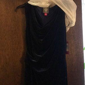 Long dark blur velvet Vince Camuto dress size 8